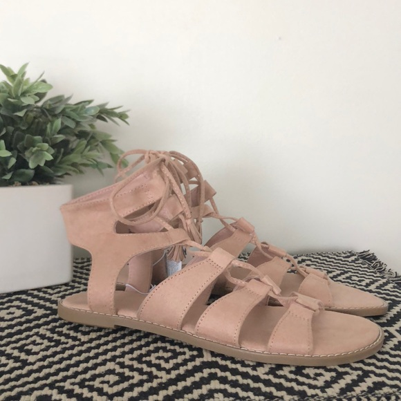 edf32049a5ee Old Navy Blush Lace Up Gladiator Sandals - NWT
